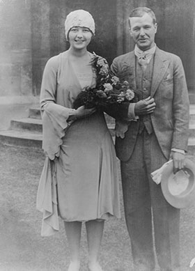 Henry & Irina Moore on their wedding day, 1929