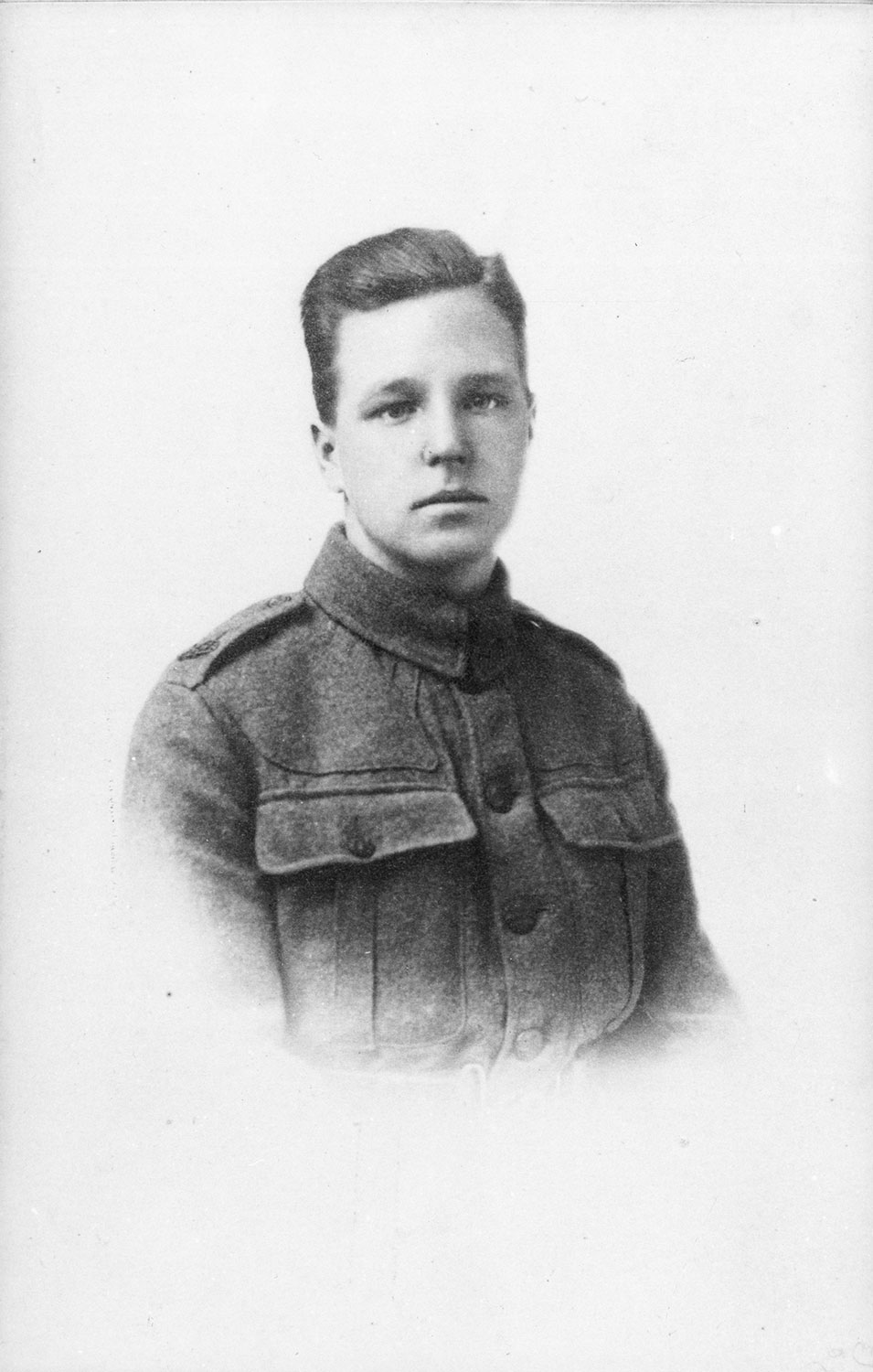 1917 Henry Moore aged 19, Private in the 15th London Regiment of the Civil Service Rifles