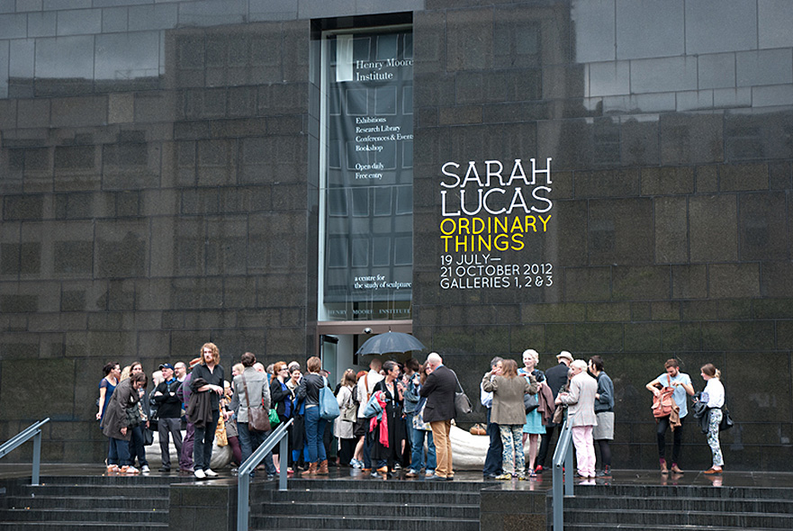 The opening of Sarah Lucas 'Ordinary Things' at the Henry Moore Institute in 2012