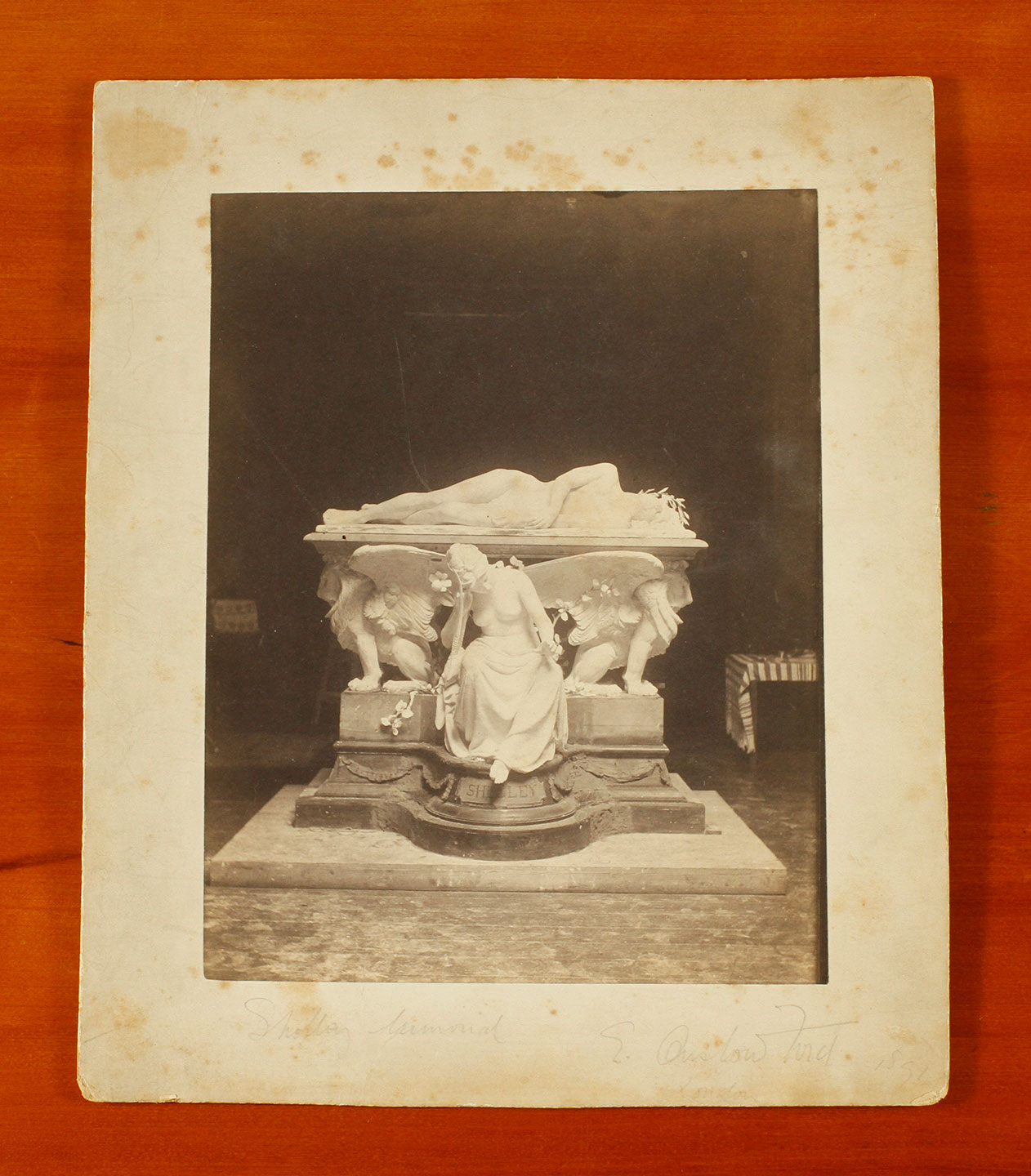 Photograph of Onslow Ford's 'Shelley Memorial' taken in his studio