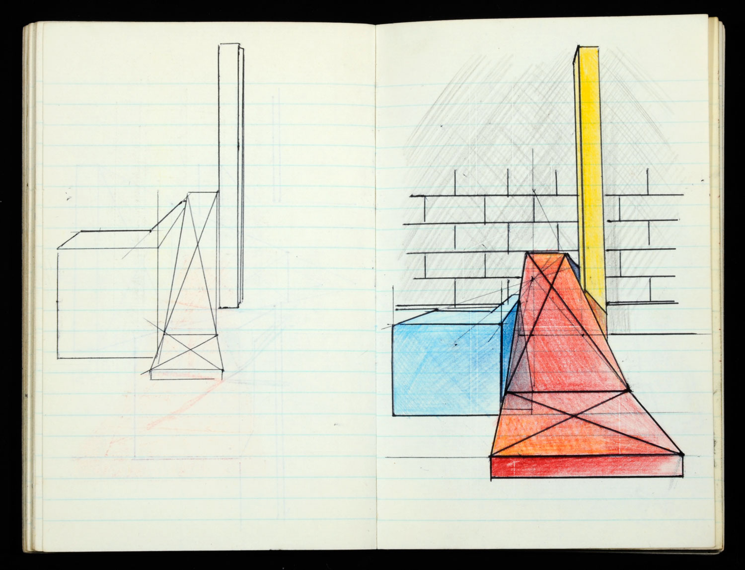 Keir Smith, sketchbook (c. 1973) Archive reference: 2012.27/A/26