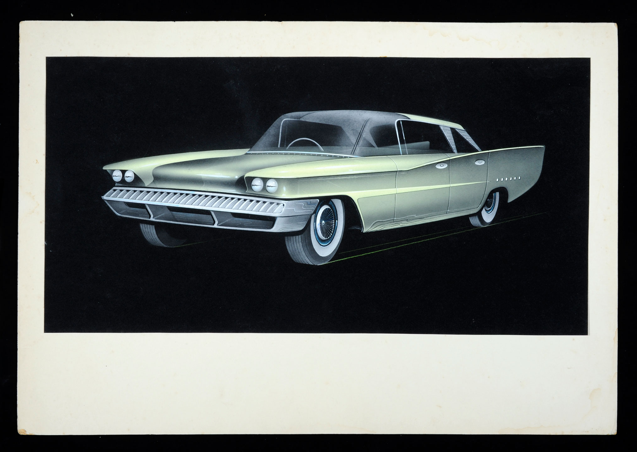 Drawing of a car design, 1950s by Hamish (Henry) Basil Macpherson