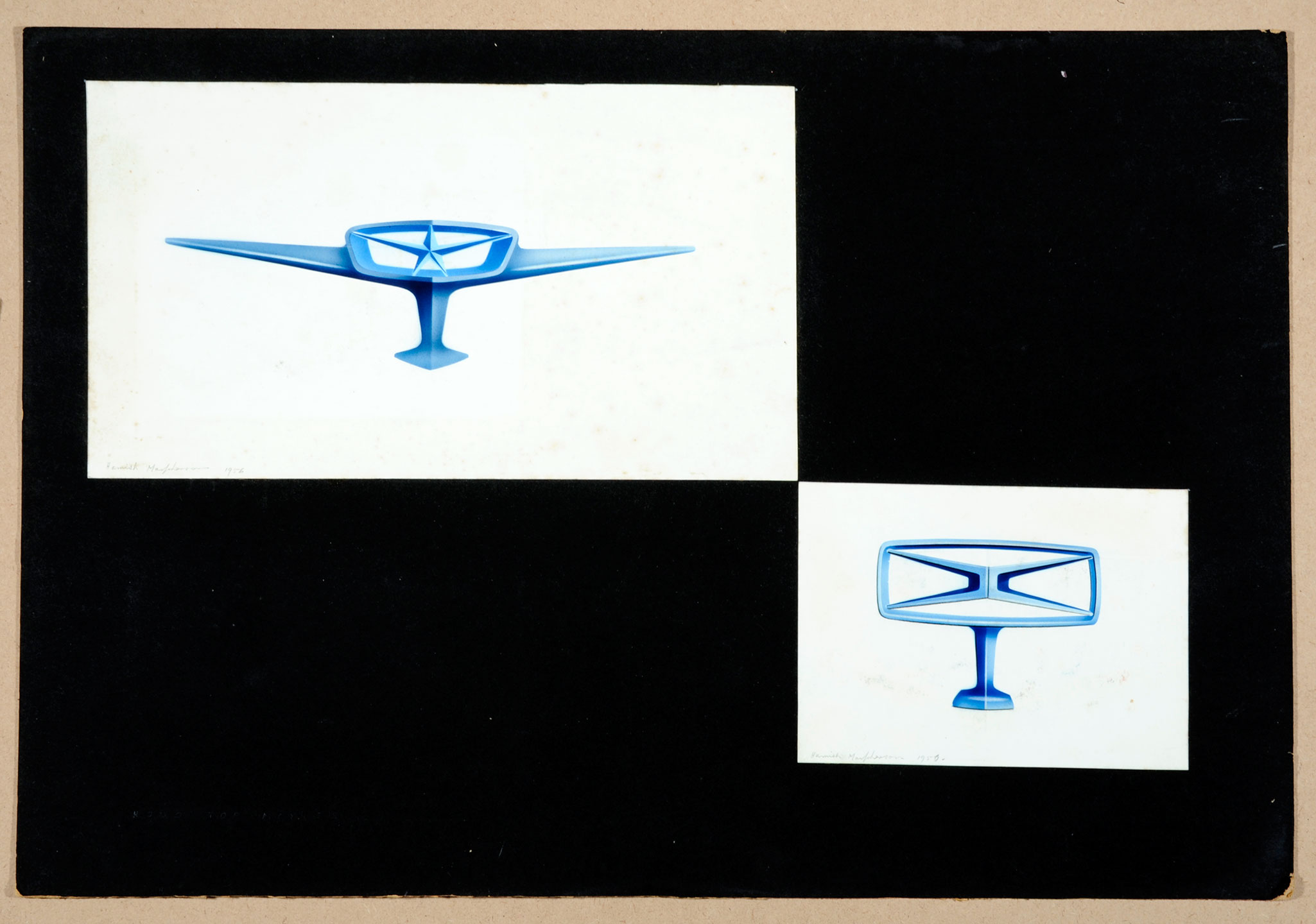 Drawing for car design, 1950s by Hamish (Henry) Basil Macpherson
