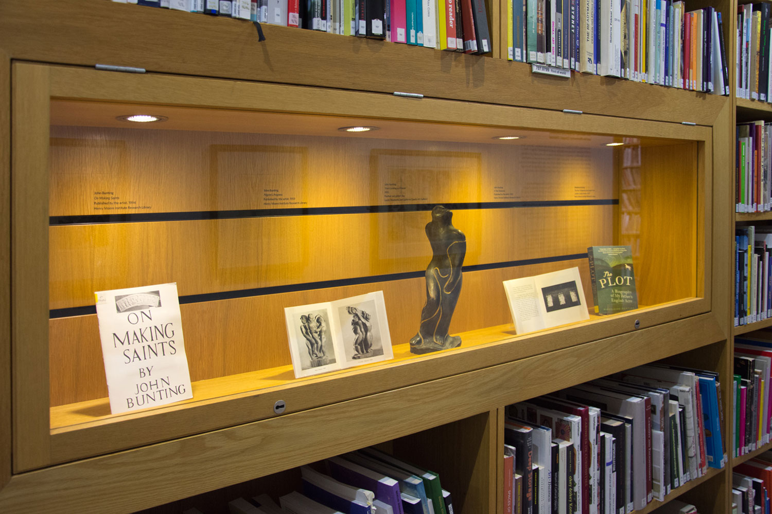 'John Bunting: Sculptural Influences and the Memorial Chapel, Oldstead' library display