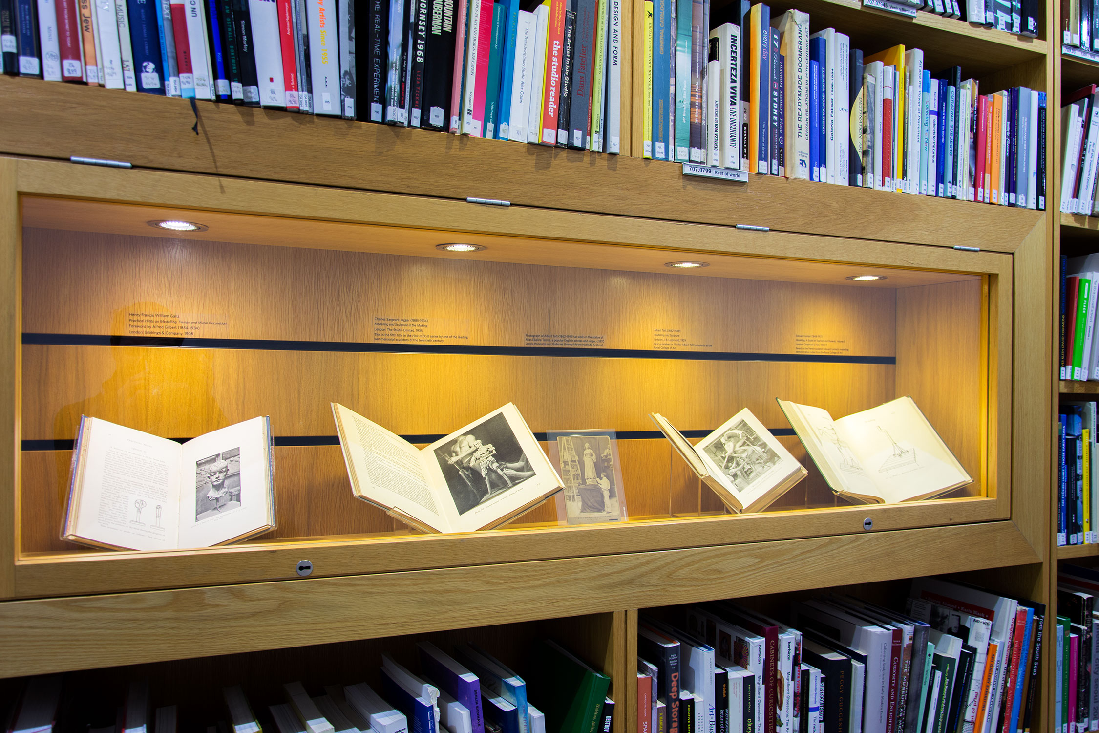 'Modelling Manuals: 1890-1940' library display