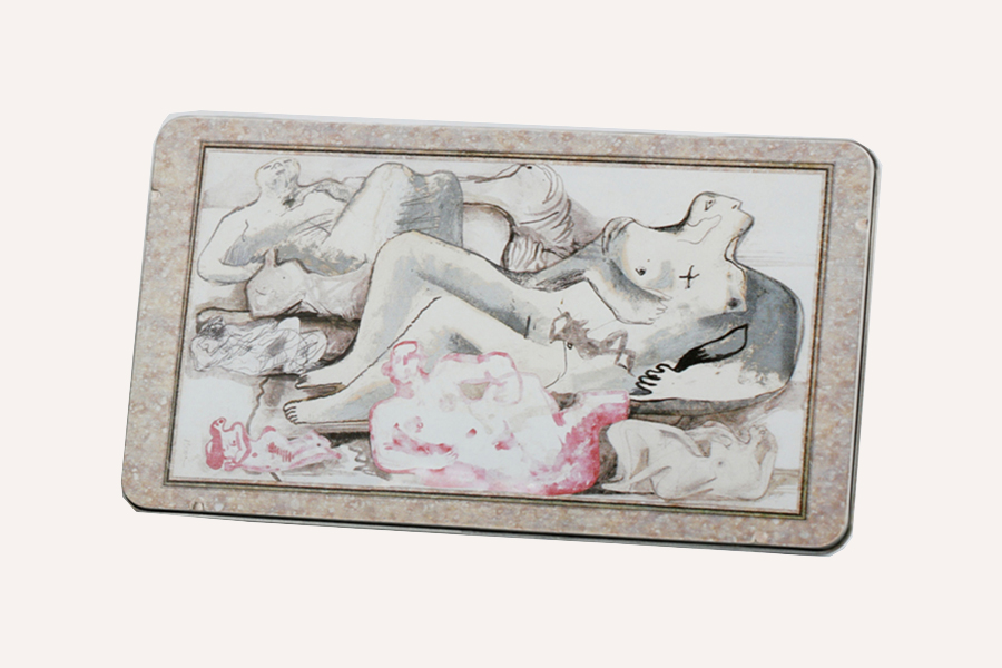 Reclining Figures Pencil Tin