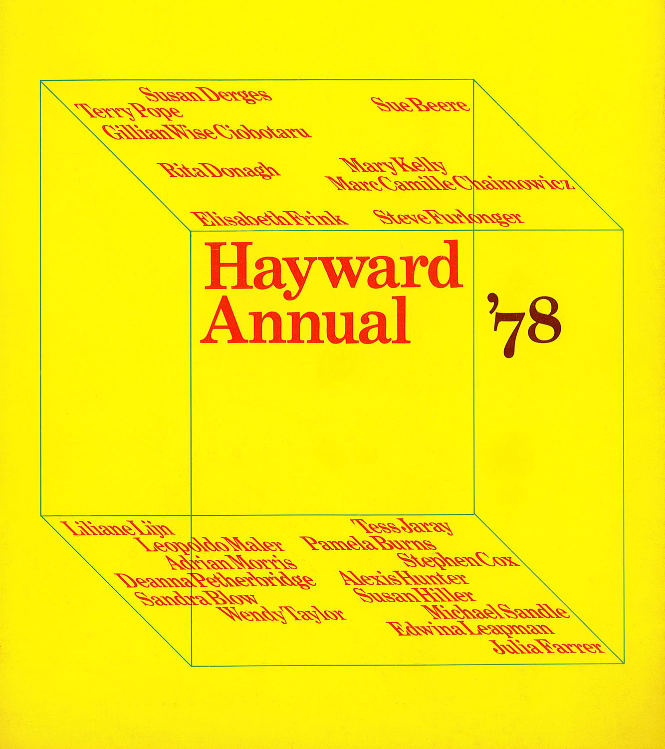 Cover of the Hayward Annual catalogue, 1978