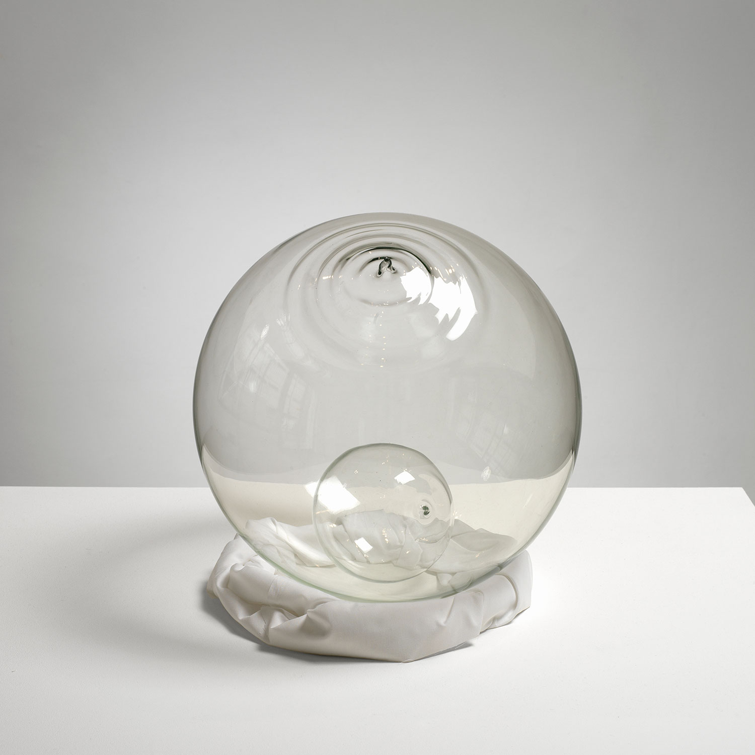 John Latham, 'Least Event as Habit' (1970, two sealed glass spheres with vacuums)
