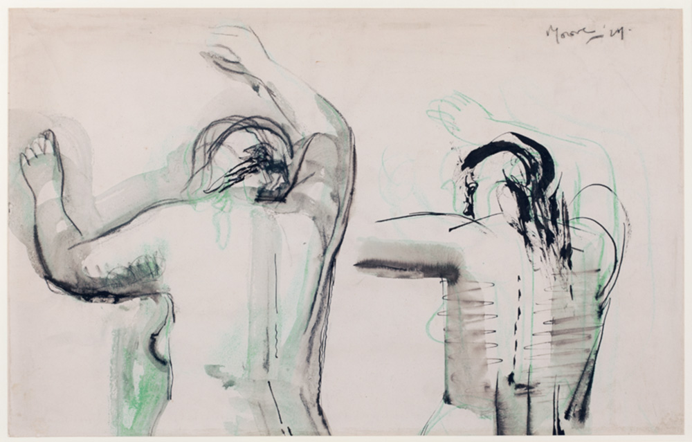 Henry Moore, 'Two Figures with Arms Outstretched' 1927