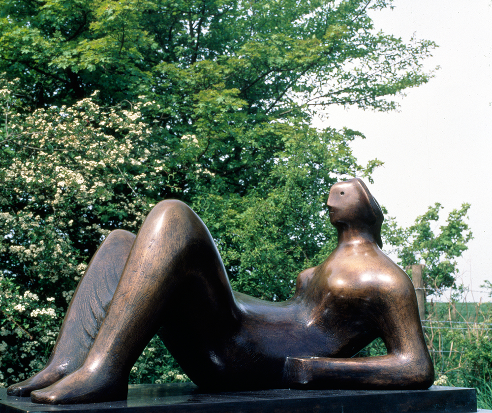 Henry Moore Working Model for Draped Reclining Figure 1976-79