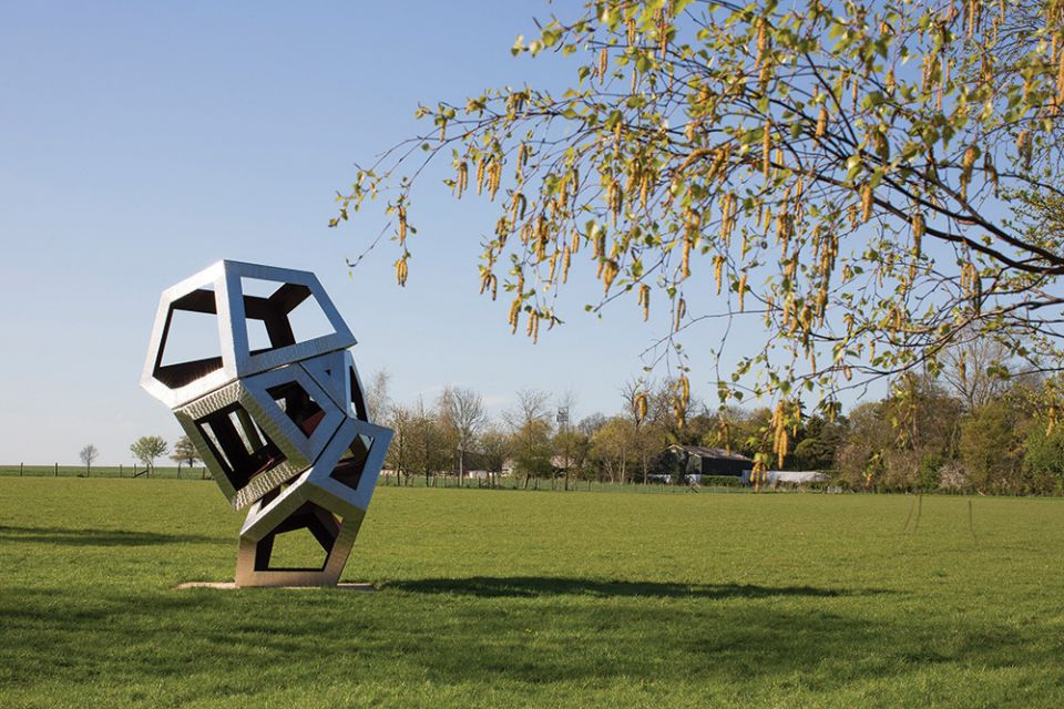 Associate by Richard Deacon commissioned as part of 'Body & Void' at Henry Moore Studios & Gardens 2014