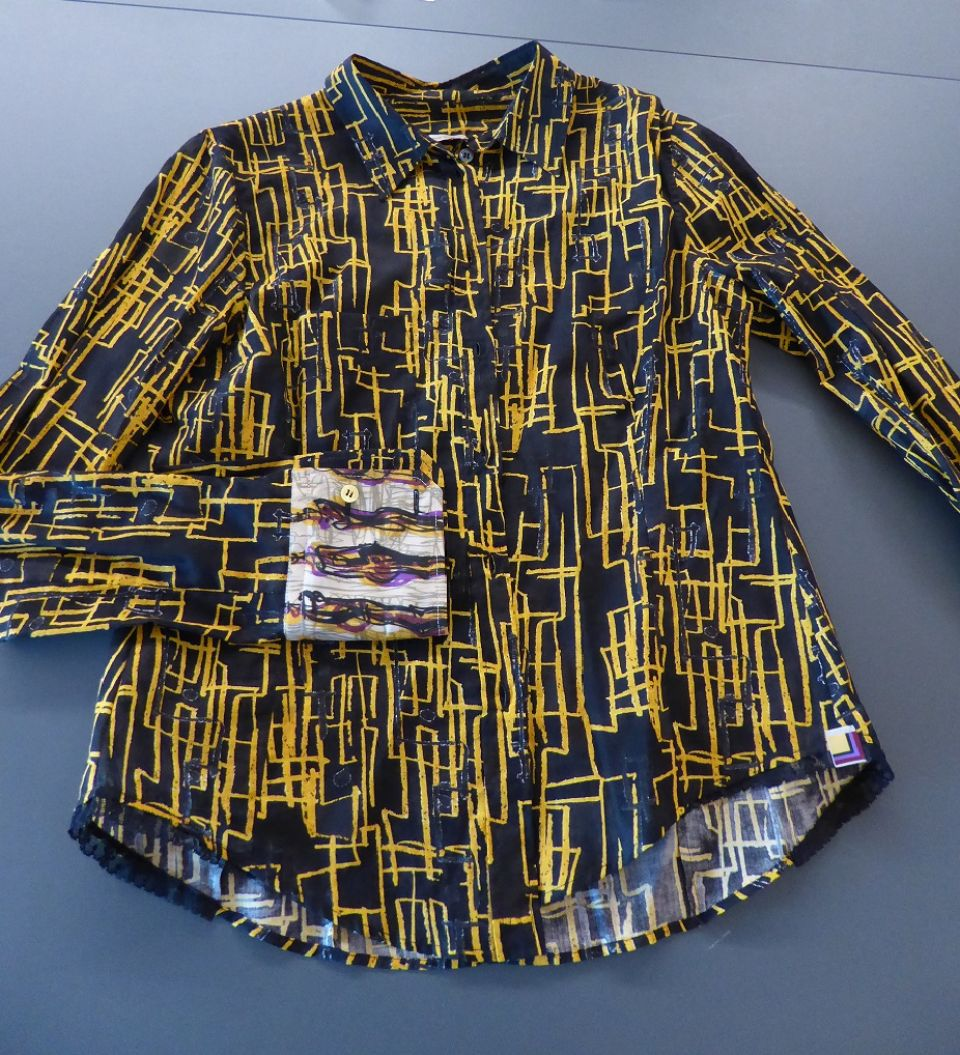 Paul Smith shirt with yellow pattern