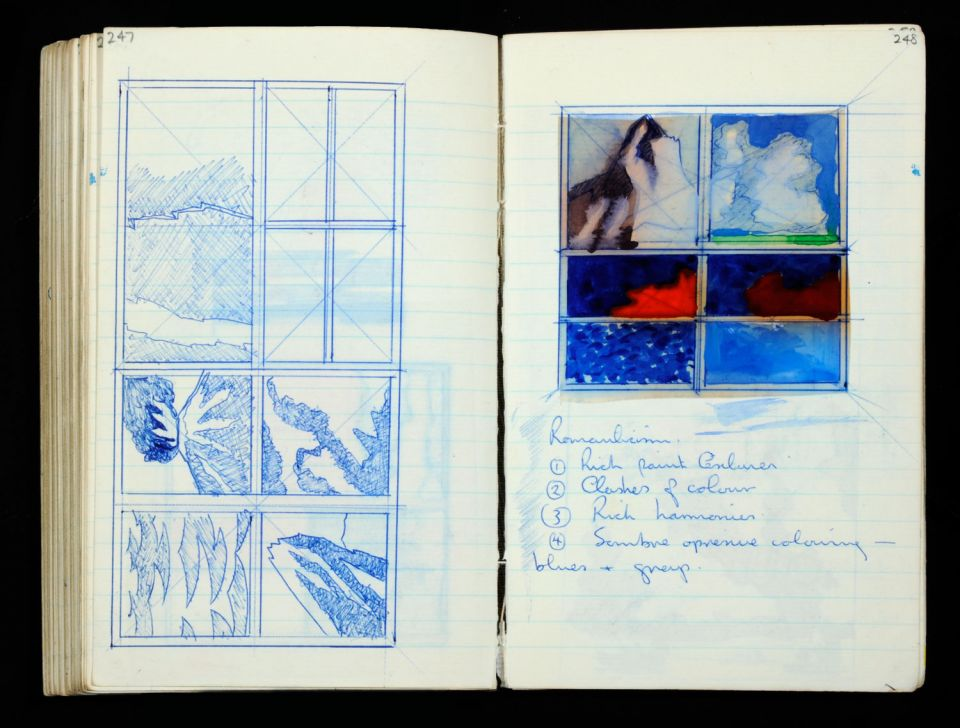 Keir Smith, sketchbook, (c. 1969-1970) Archive reference: 2012.27/A/20