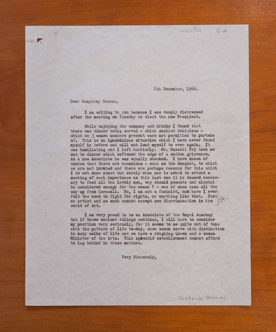 Letter from Gertrude Hermes to Humphrey Brooke, 1966