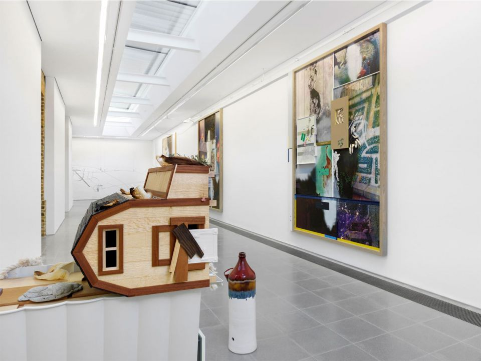 Helen Marten - installation view of Drunk Brown House (1)