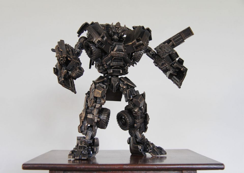 Hetain Patel, Plastic Dreams - Ironhide, 2020, plastic Transformer figure, acrylic paint