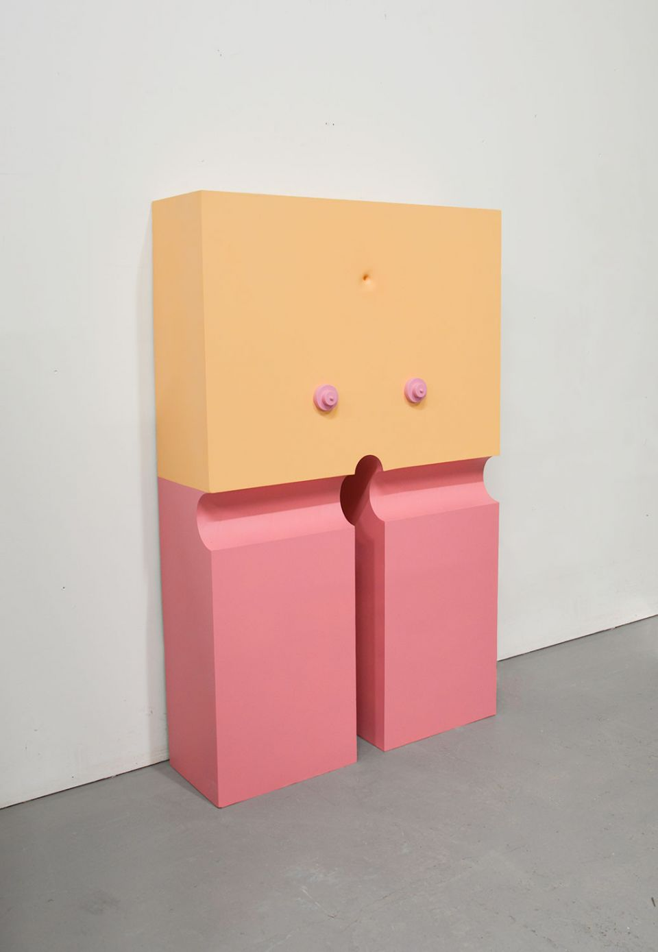 Liam Fallon, Handstand (English Rose), 2020, jesmonite, polyurethane foam, MDF, paint