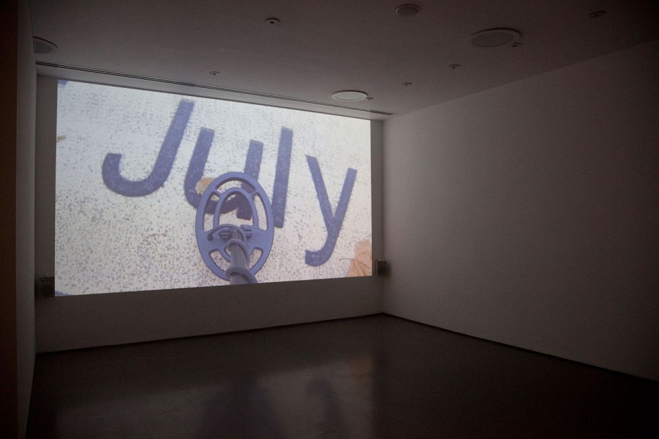 Installation view of Gallery 3, showing Ceal Floyer's 'Silent Movie' 1