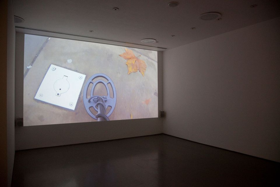 Installation view of Gallery 3, showing Ceal Floyer's 'Silent Movie' 2