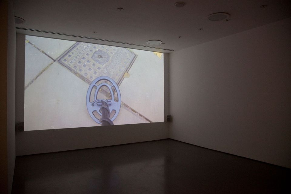 Installation view of Gallery 3, showing Ceal Floyer's 'Silent Movie' 3