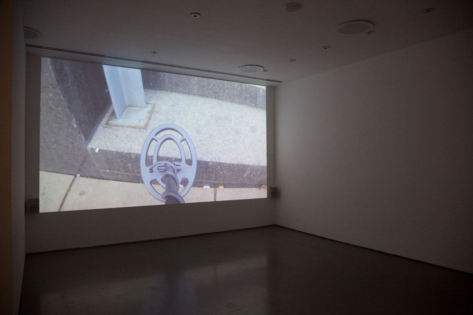 Installation view of Gallery 3, showing Ceal Floyer's 'Silent Movie' 4