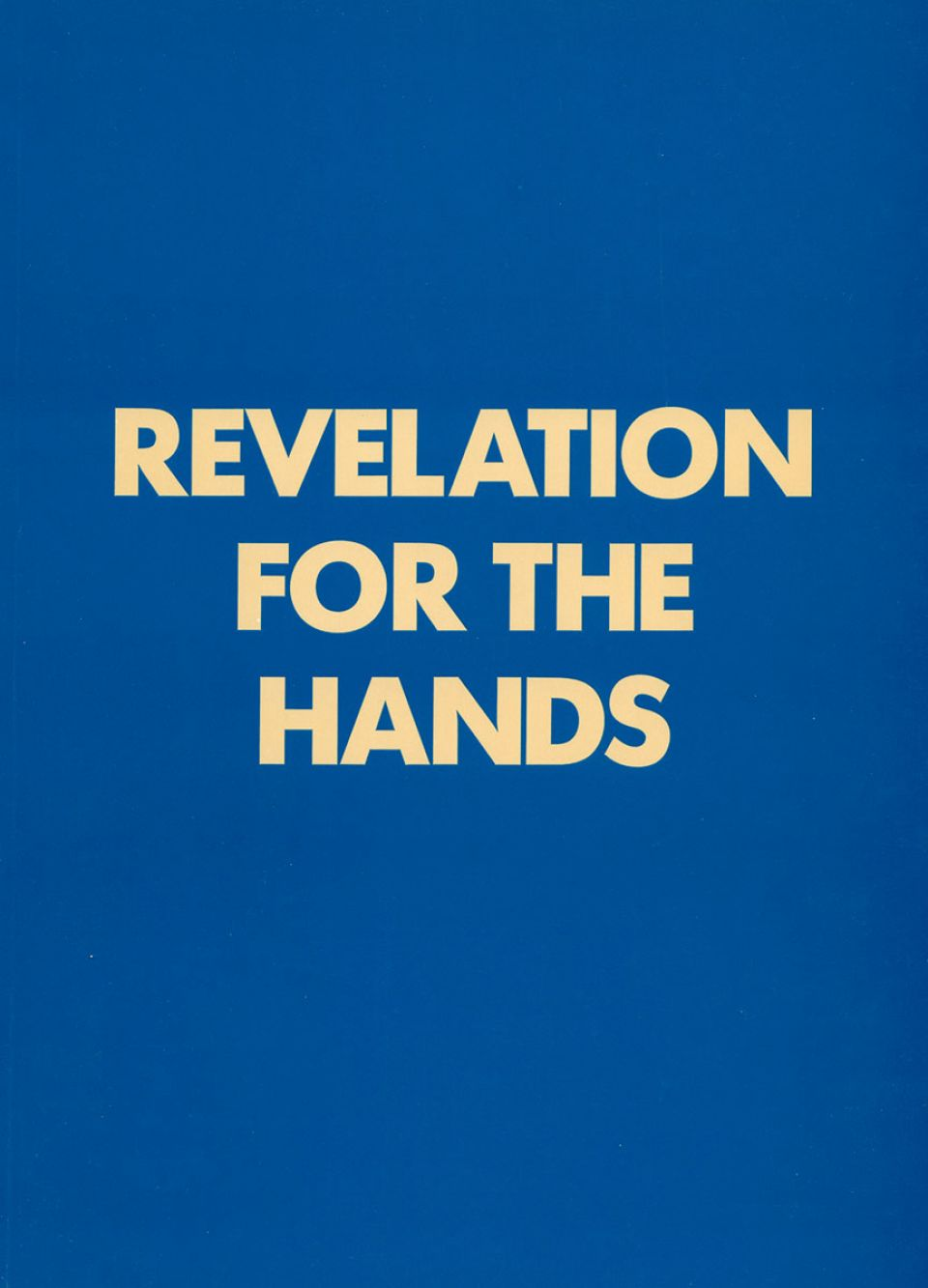 Revelation for the Hands cover