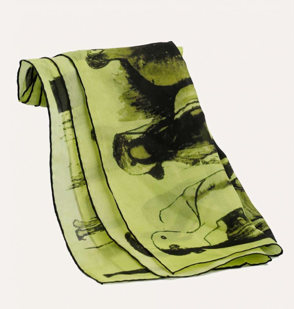 Green Figure Scarf