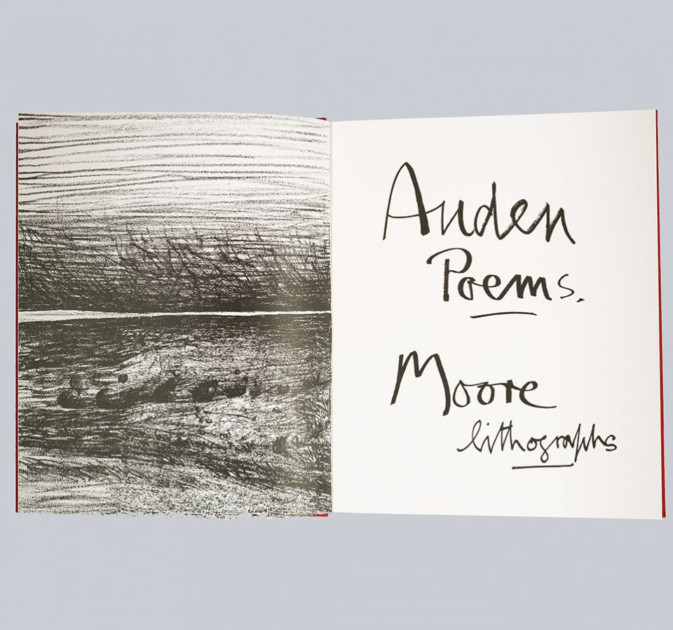 Auden poems, inside cover
