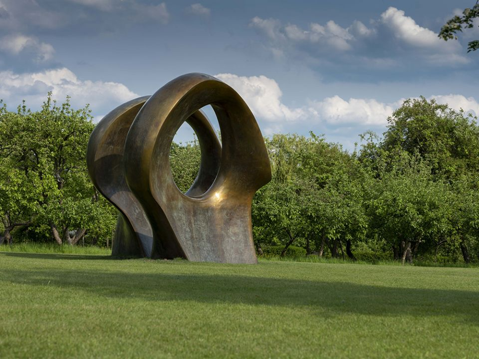 Henry Moore's sculpture 'Double Oval'