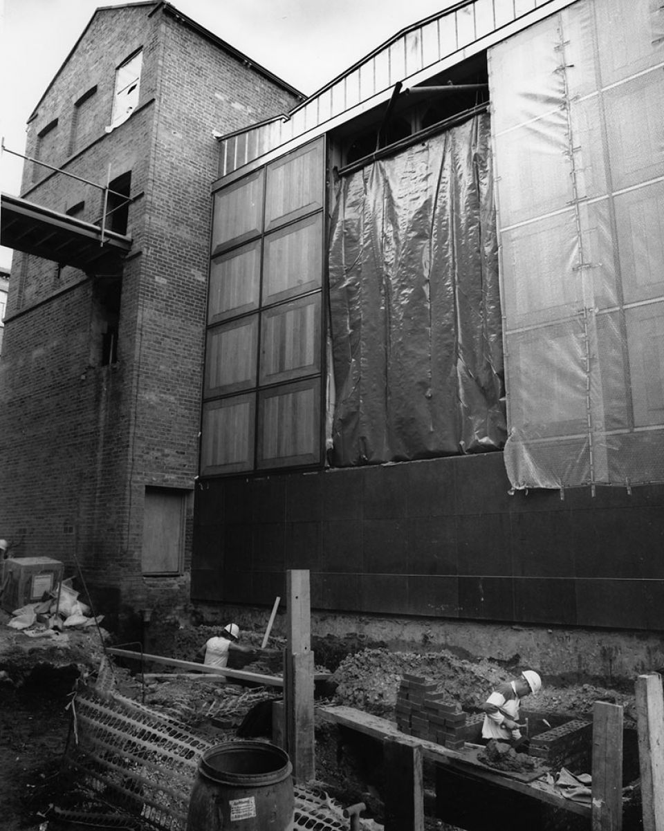 The opening of Gallery 2 onto Alaxander Street, with the doors yet to be put in place, c. 1993