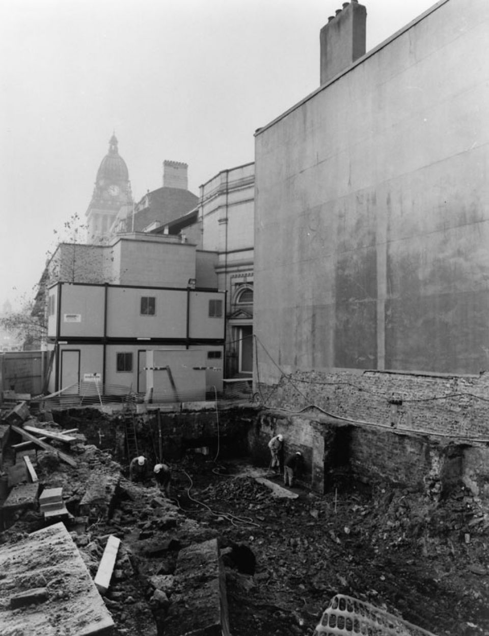 Construction of the front steps leading up to the Institute, c. 1993