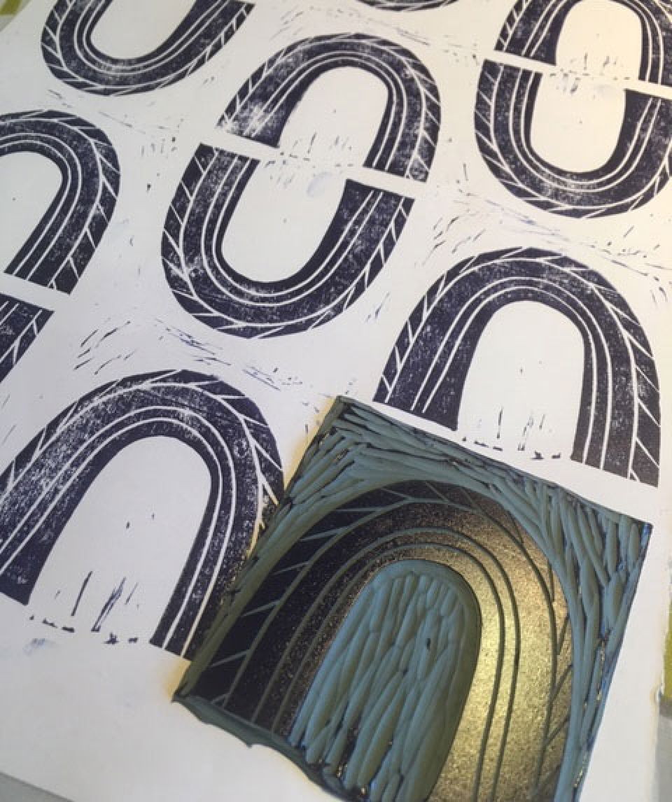 Linocut prints and lino plates