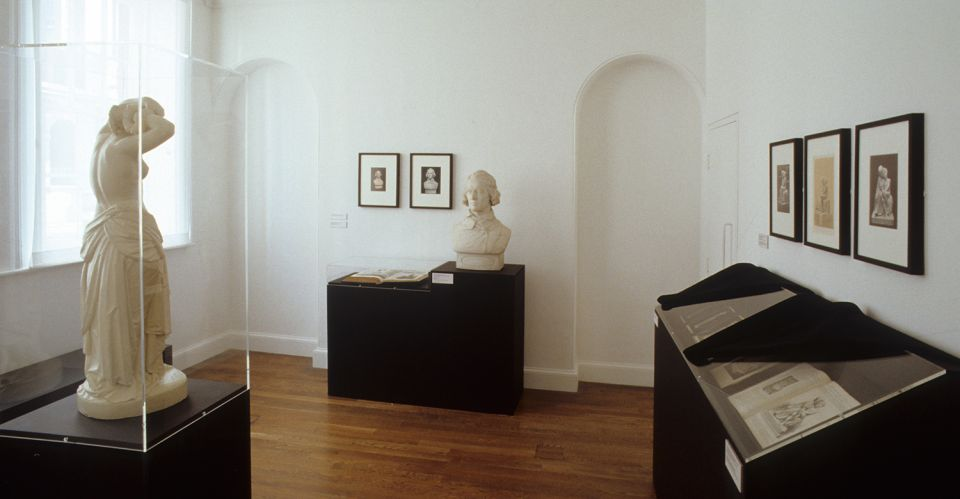 Installation view of Thomas Woolner: Seeing Sculpture Through Photography 1