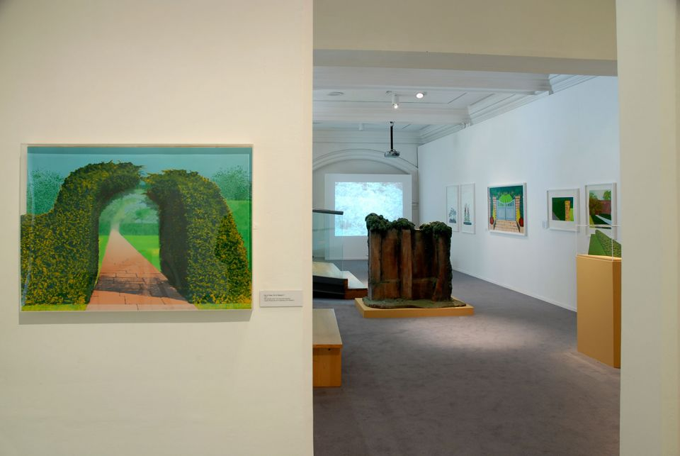 Installation view of By Leafy Ways: Early works by Ivor Abrahams 1