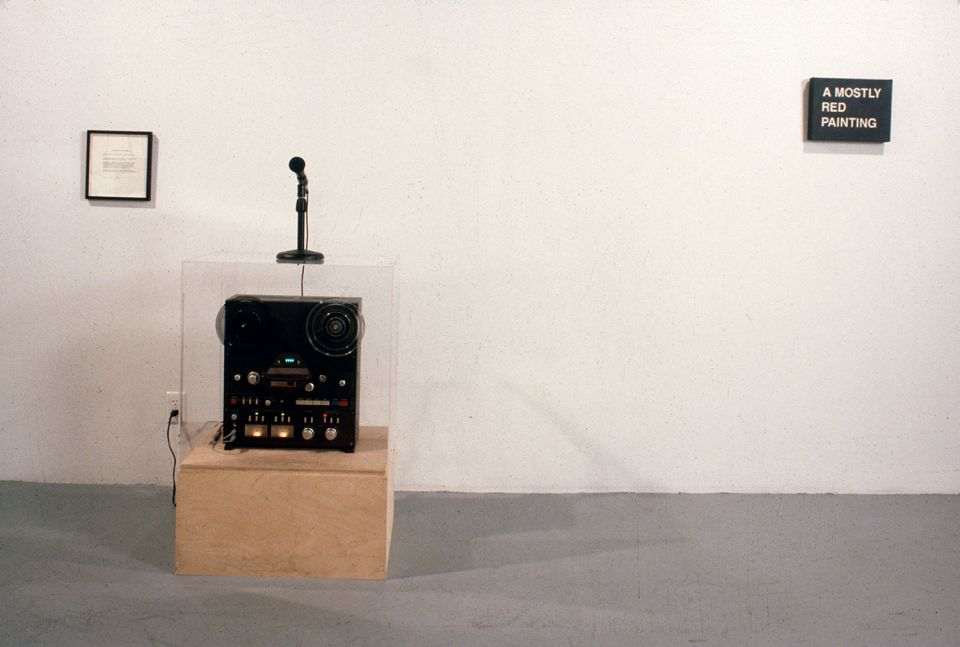 Christine Kozlov, 'Information: No Theory' (1970, tape recorder and statement)