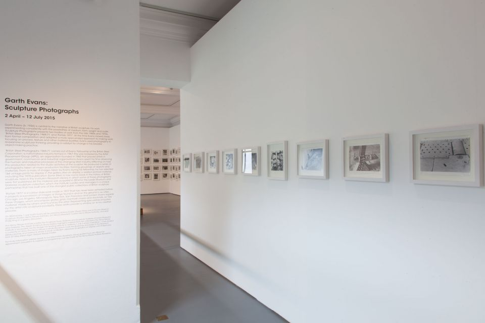 Installation view of Garth Evans: Sculpture Photographs 4