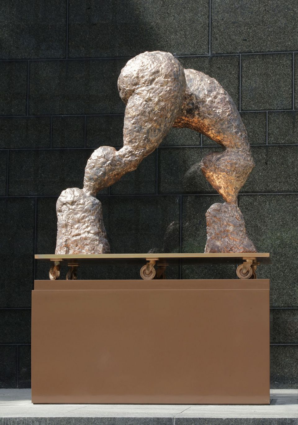 Rebecca Warren, 'Man and the dark' (2016, bronze on painted steel plinth)
