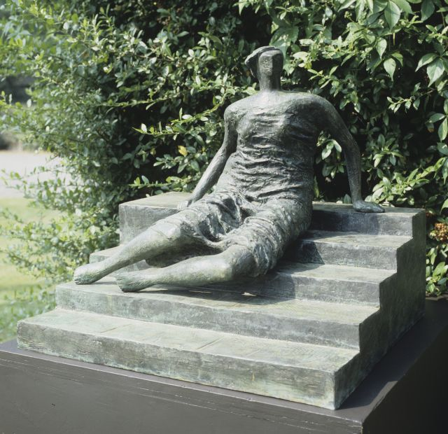 Working Model for Draped Seated Woman: Figure on Steps
