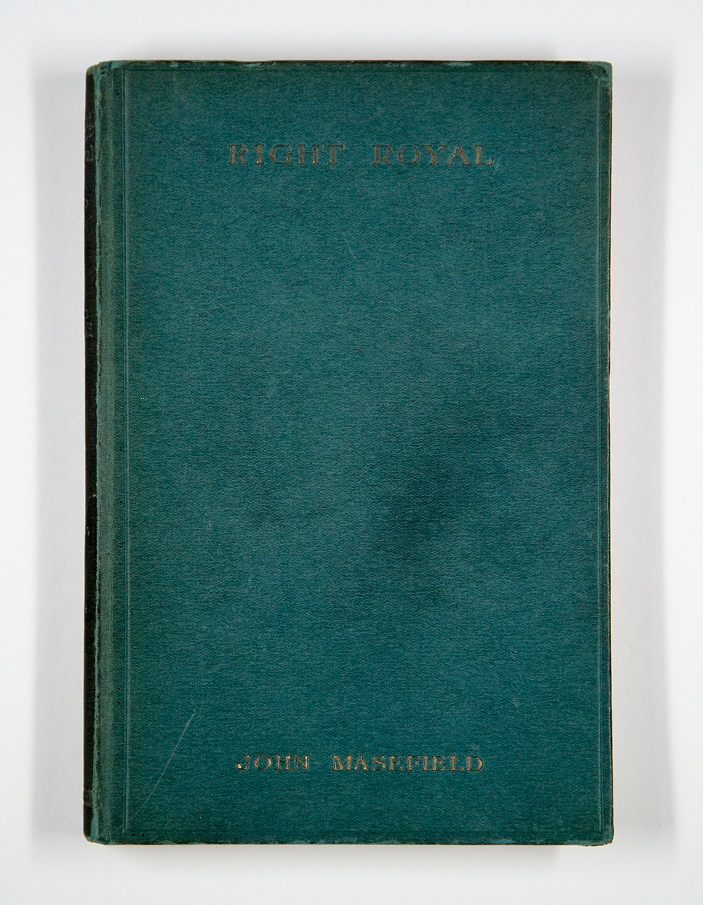 Front cover of the John Masefield book 'Right Royal', signed by W.B.Pearson's students including Henry Moore and Barbara Hepworth