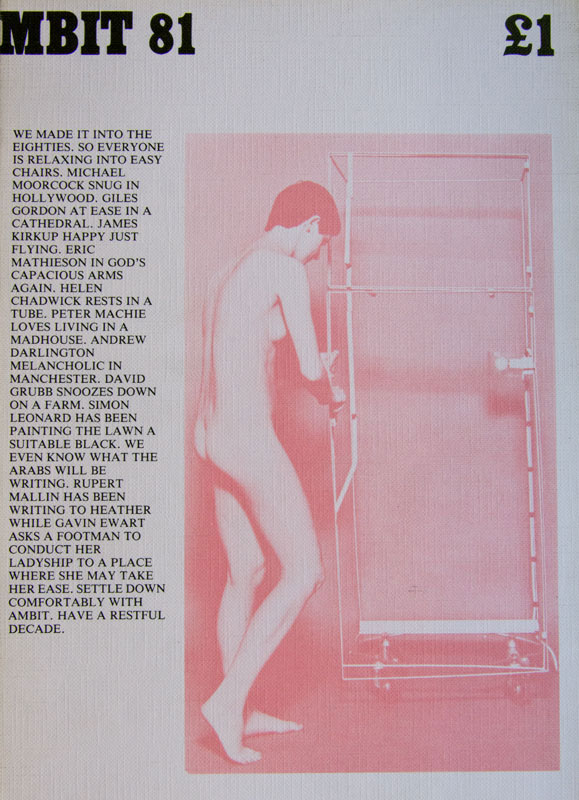 Cover of 'Ambit 81' (1979), featuring Helen Chadwick, 'In the Kitchen' (1977)