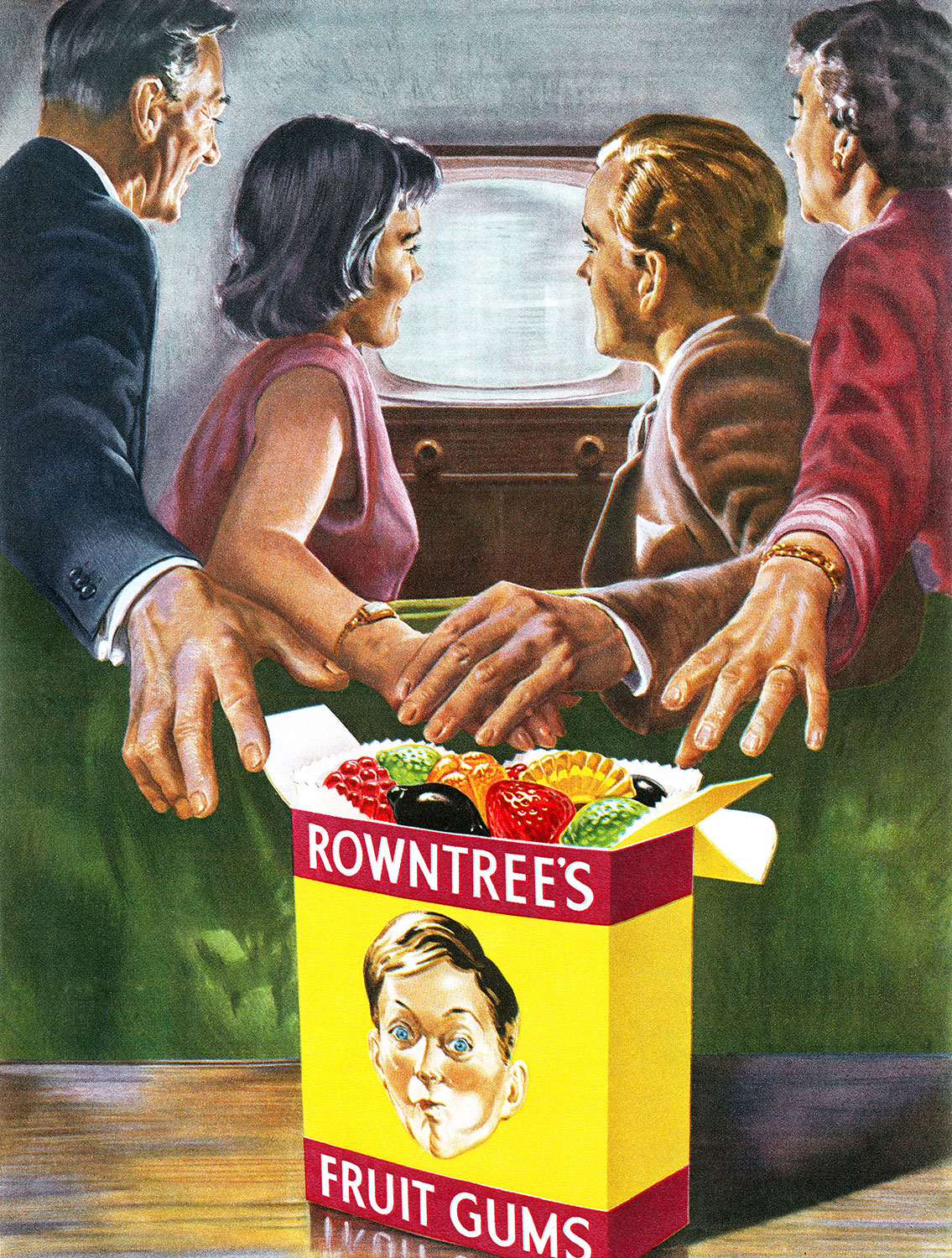 1956 British advertisement for Rowntree's Fruit Gums