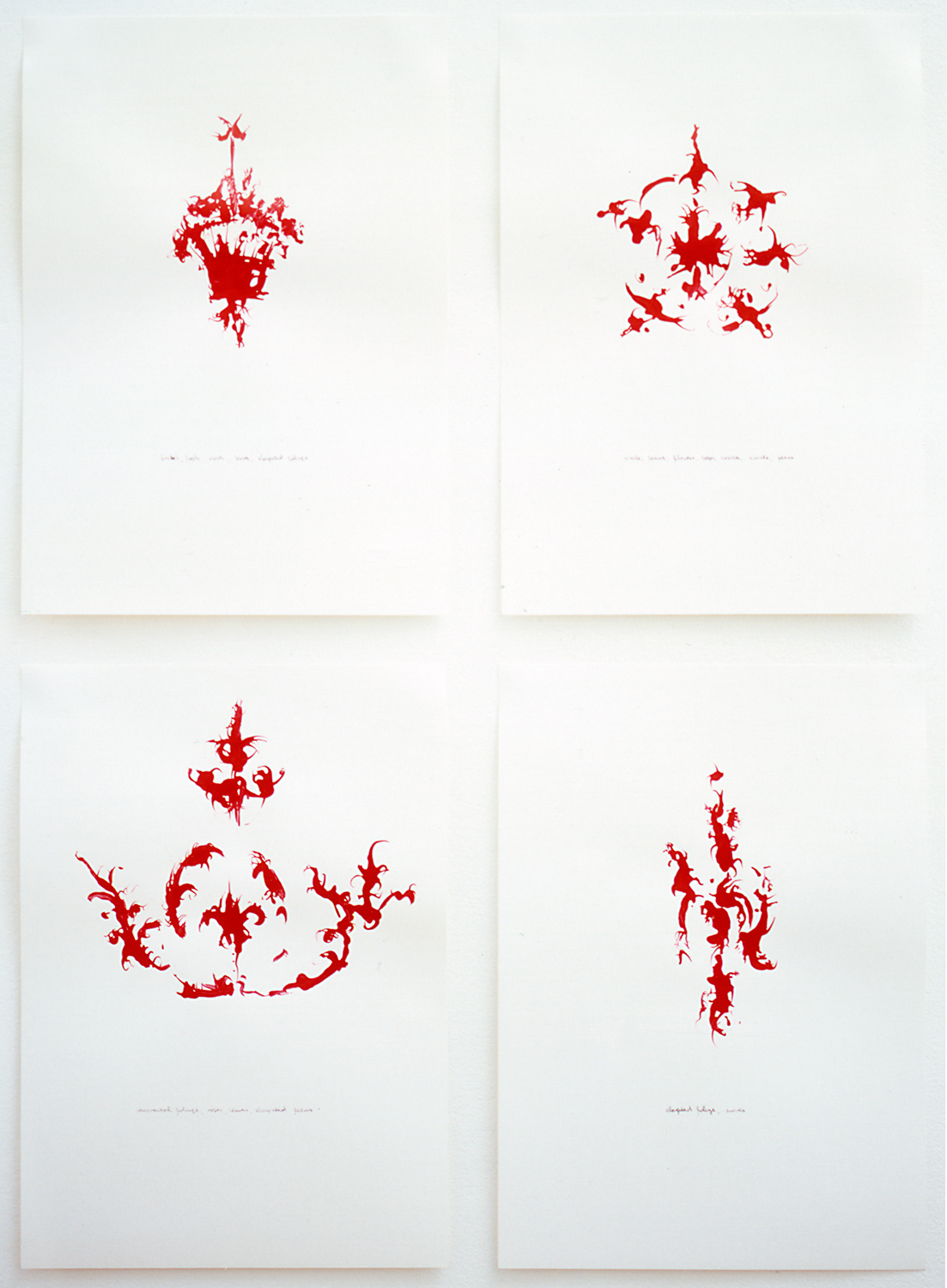 Liandin Cooke, 'Samples' (2003, poster paint and ink on paper) 1