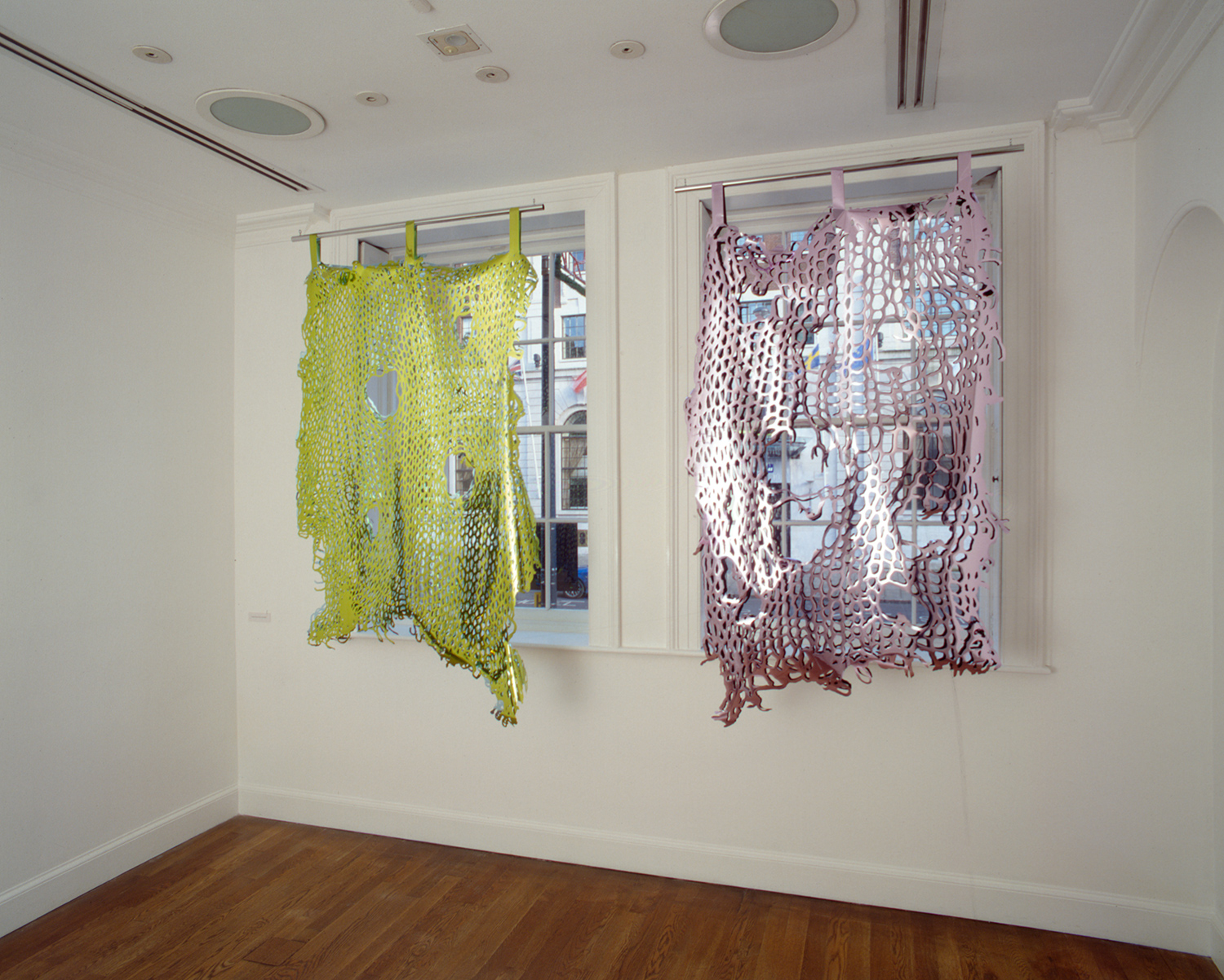 Installation view of Simon Periton: Flag 1