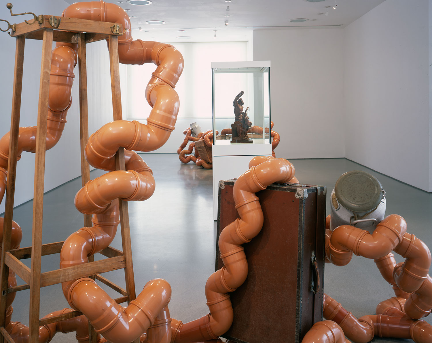 Installation view of Towards a New Laocoon 4