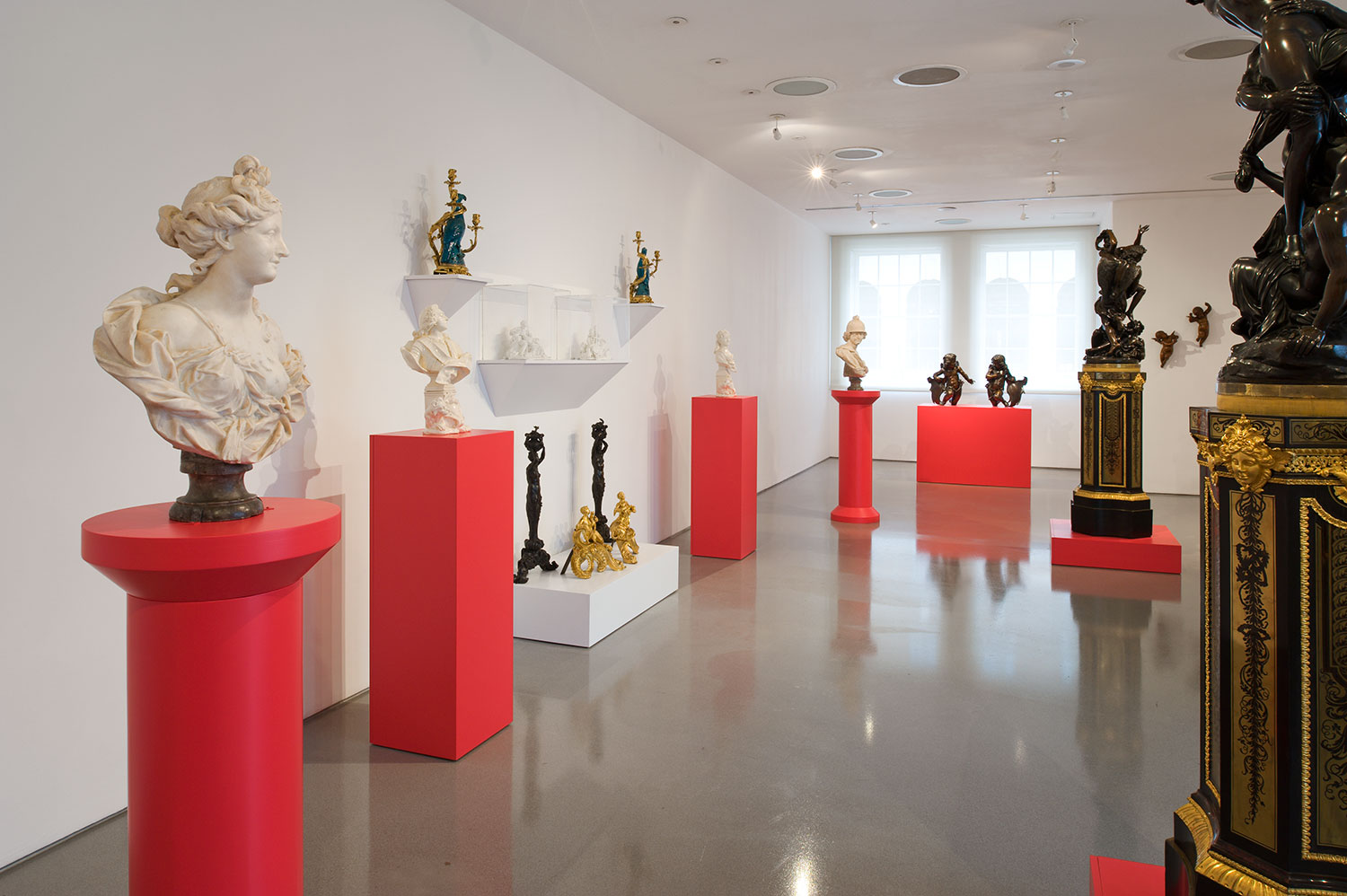 Installation view of Taking Shape: Finding sculpture in the decorative arts 2