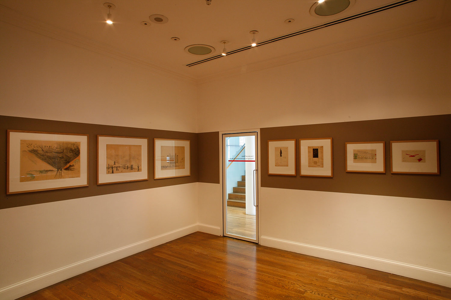 Installation view of Concrete and Poetry: Drawings for an art museum by Lina Bo Bardi 2