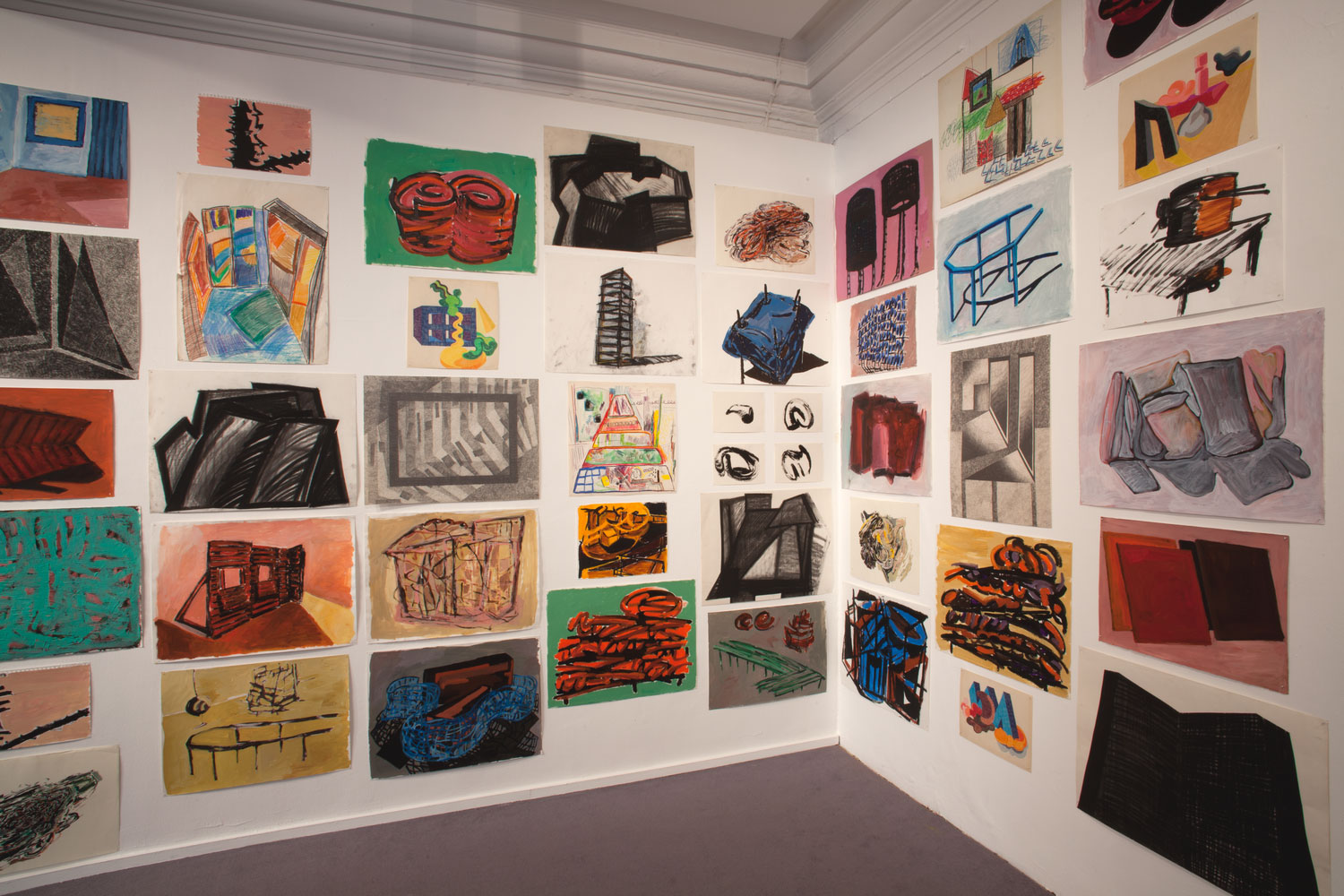 Installation view of Phyllida Barlow: Bad Copies (2)