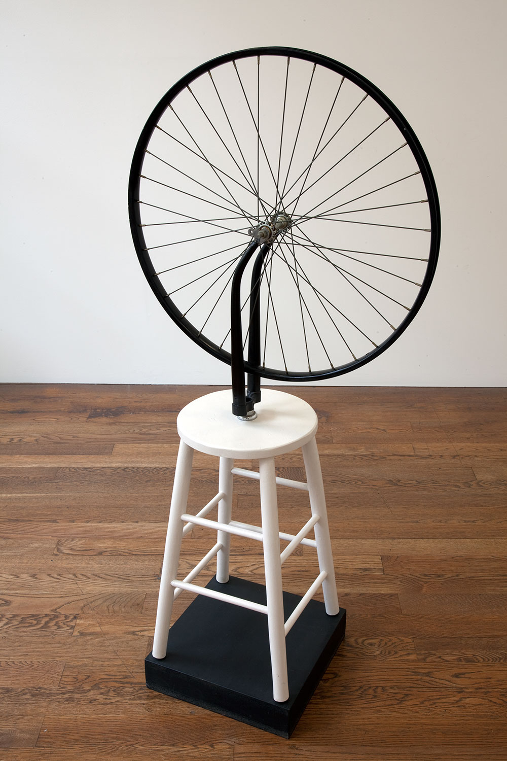 Sturtevant, 'Duchamp Bicycle Wheel' (1969-1973, bicycle wheel on wooden stool) 2