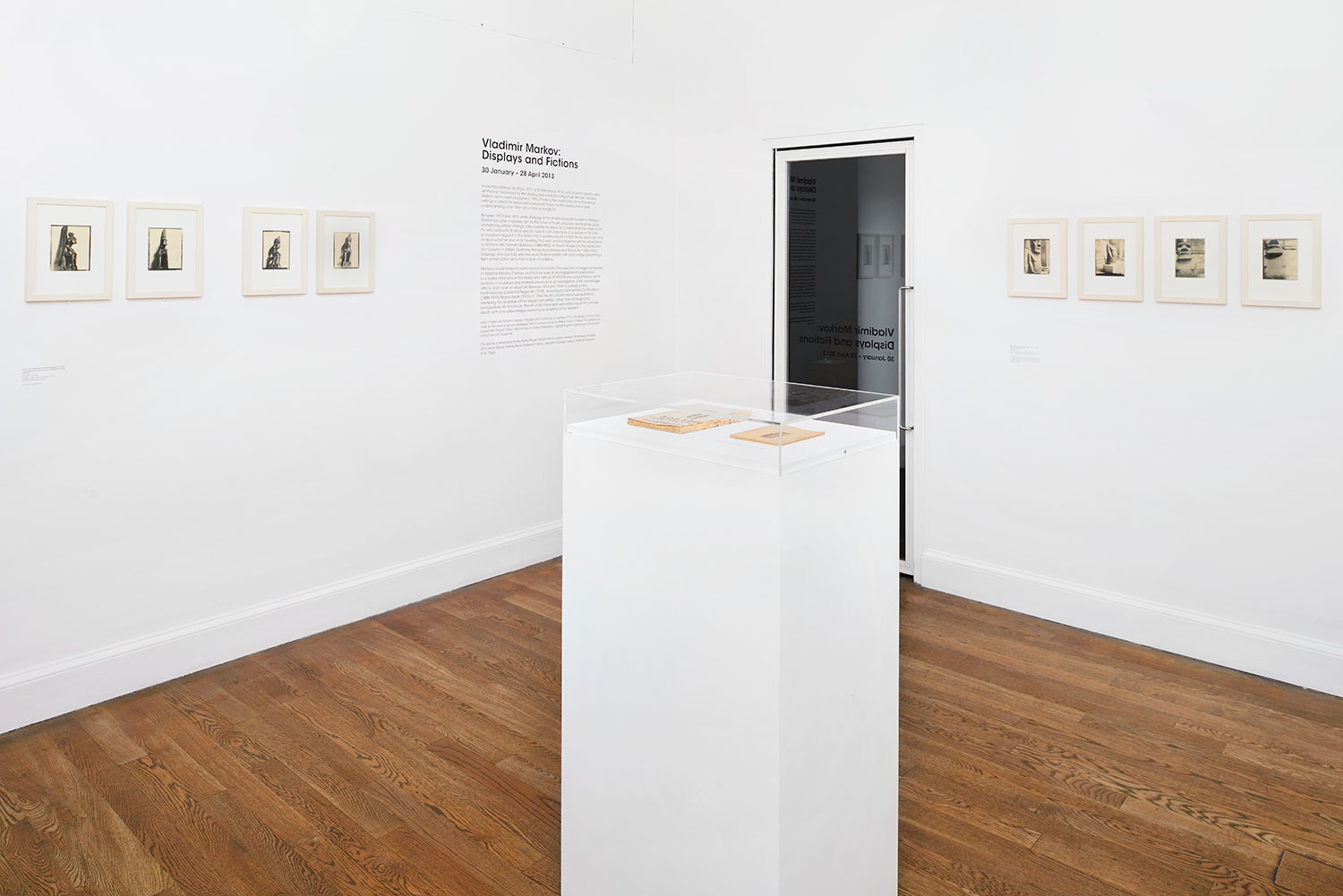 Installation view of Vladimir Markov: Displays and Fictions 1