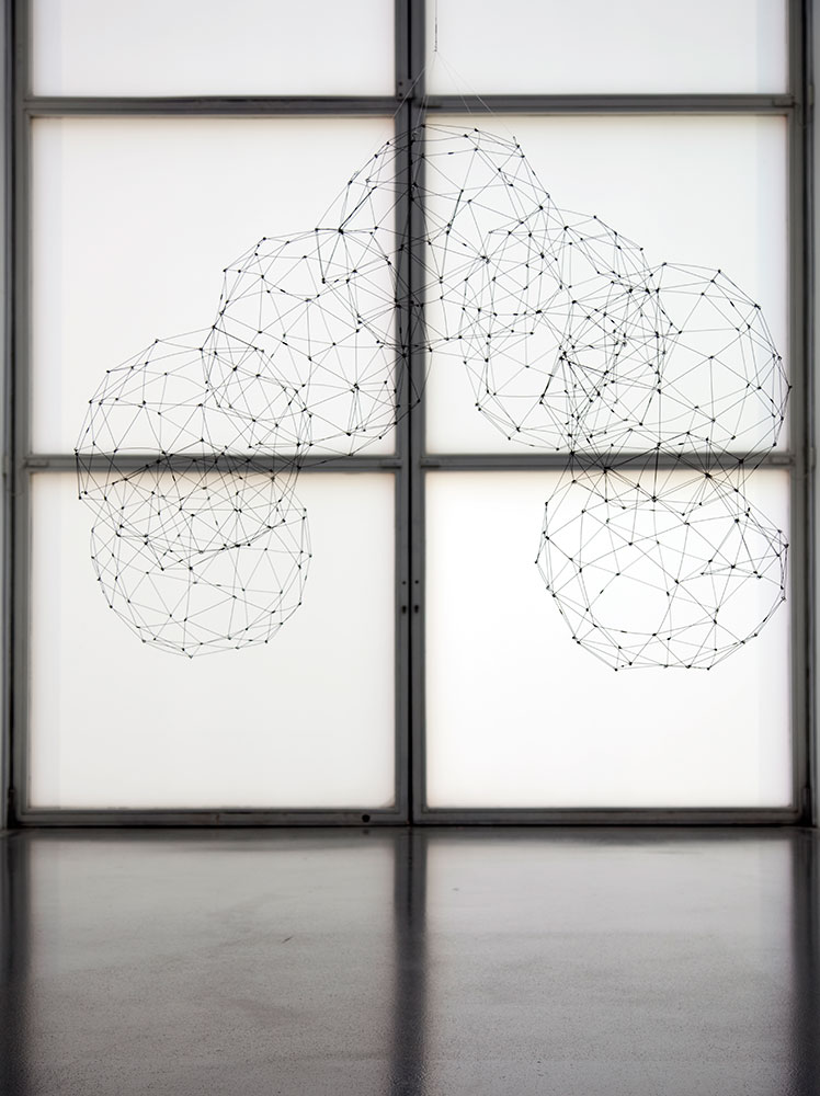 Gego 'Siete icosidodecaedros' ('Seven icosidodecahedrons') (c. 1977, steel wire)